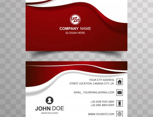 دانلود کارت ویزیت شرکتی با رنگ قرمز و سفید